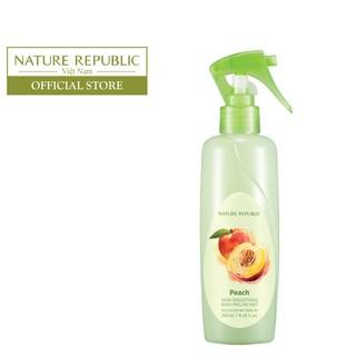 Tẩy da chết toàn thân dạng xịt NATURE REPUBLIC SKIN Smoothing Body Peeling Mist - Peach 250ml-0