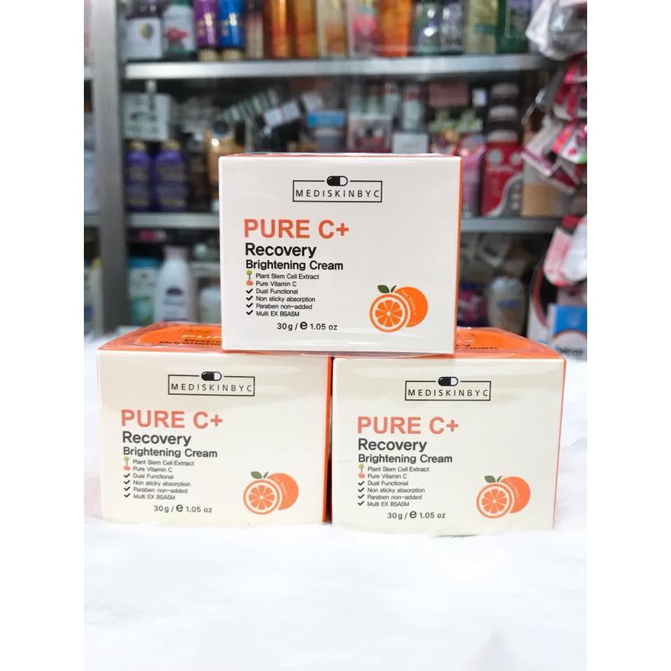 Kem dưỡng trắng da MediskinbyC Pure C+ Recovery Brightening Cream