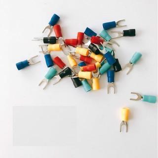 100 Đầu cos chẻ chữ Y SV1.25-3 màu đỏ, vàng, xanh, đen loại tốt
