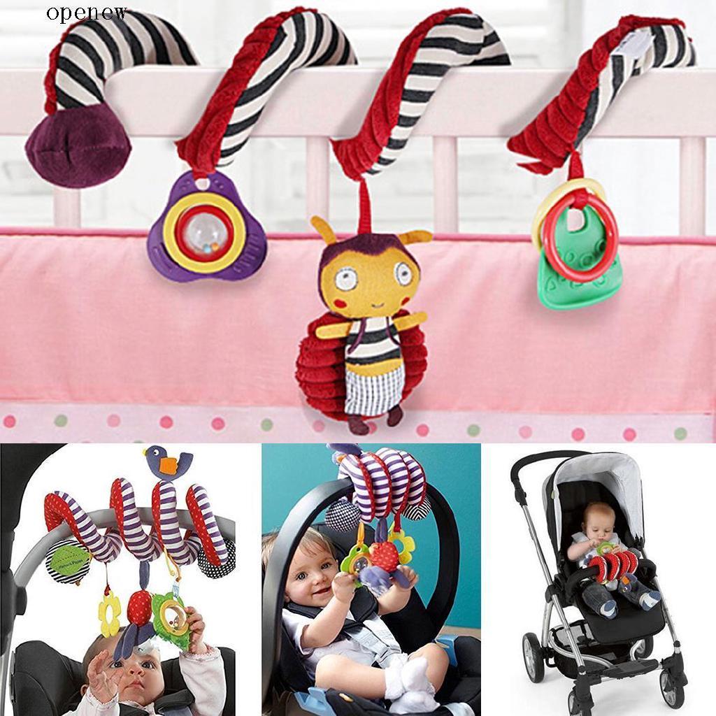 op Kid Baby Pram Hanging Rattles Spiral Stroller Car Seat Toy with Ringing Bell