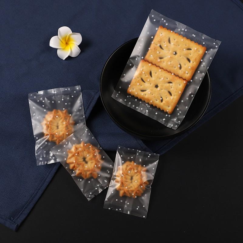 (TO | 7*10cm) Túi bánh quy cán mờ chấm bi - 100c/bịch