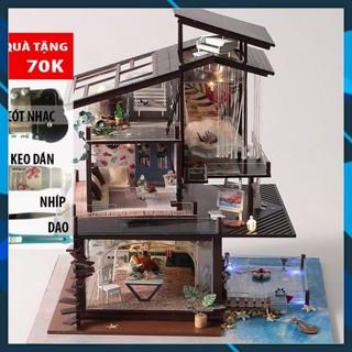 Mô hình nhà búp bê gỗ DIY Nhà búp bê lắp ghép Biệt Thự Ven Biển TB13 Toy World thumbnail