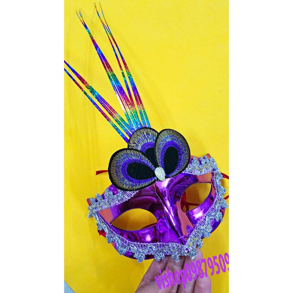 SK-mặt nạ lông vũ ( kèm ảnh thật )-( MK3) shop