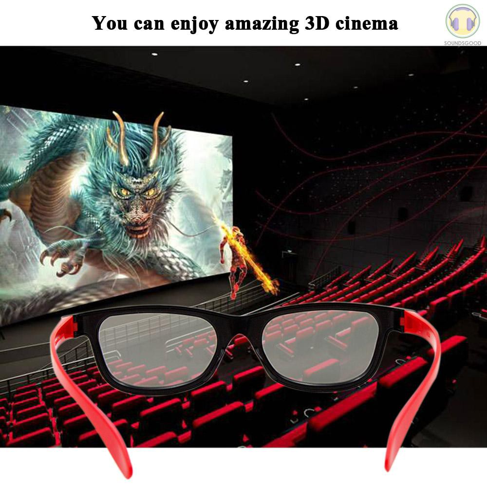 S&G G66 Passive 3D Glasses Polarized Lenses for Cinema Lightweight Portable for watching Movies