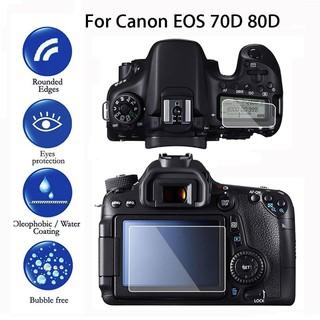 Set 2 miếng dán bảo vệ màn hình máy camera LCD cho Canon EOS 70D 80D