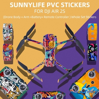 【sv】 Drone Remote Control Skin Film Stickers Protective Cover for DJI Air 2S