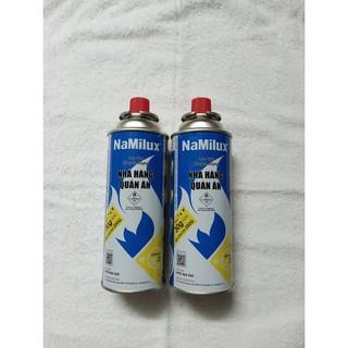 Combo 2 Lon Gas Mini Du Lịch Namilux 250g/lon Hàng Nguyên Đai, Vỏ Bình Chắc Chắn Đảm Bảo An Toàn Khi Sử Dụng