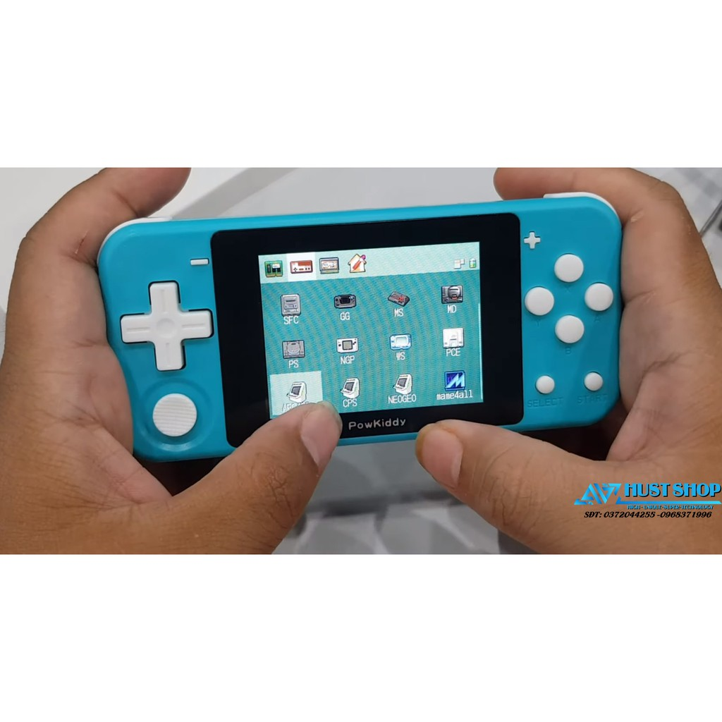 Máy Chơi Game Powkiddy Q90 Màn Hình 3inch IPS Chơi PS1/GBA/GBC/MAME/NES...  Tích Hợp Sẵn 3000+ Games giá cạnh tranh