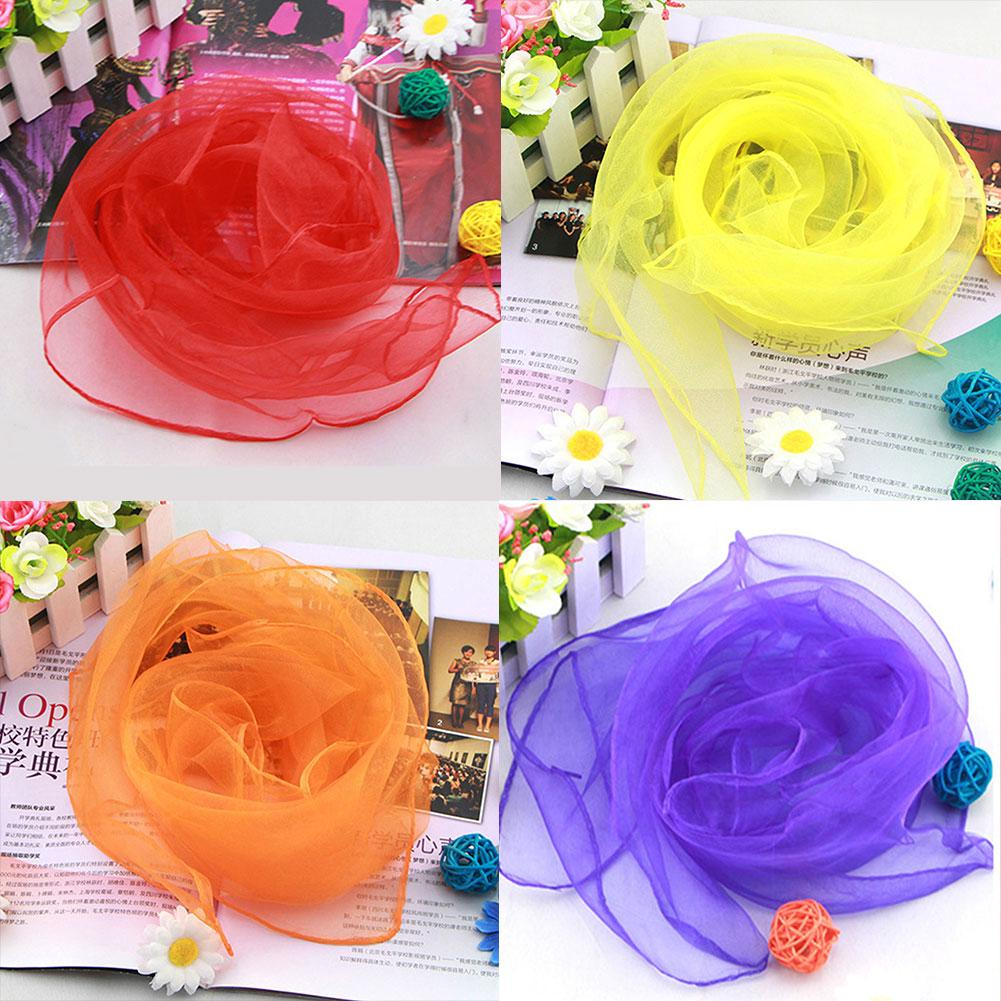 20pcs/pack Performance Toy Kids Dance Silk Props Early Education Square Magic Tricks Dress Up Gift Juggling Scarves