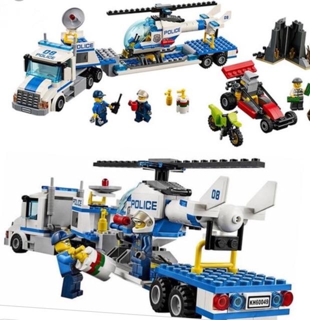 Lego City Urban -police seri 10422 Xe tải vận chuyển trực thăng