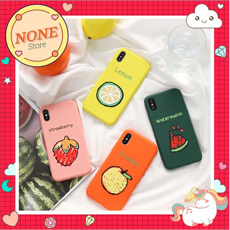 [ Iphone 6-XS ] Ốp Silicon Dẻo 100% Hoa Quả mùa xuân