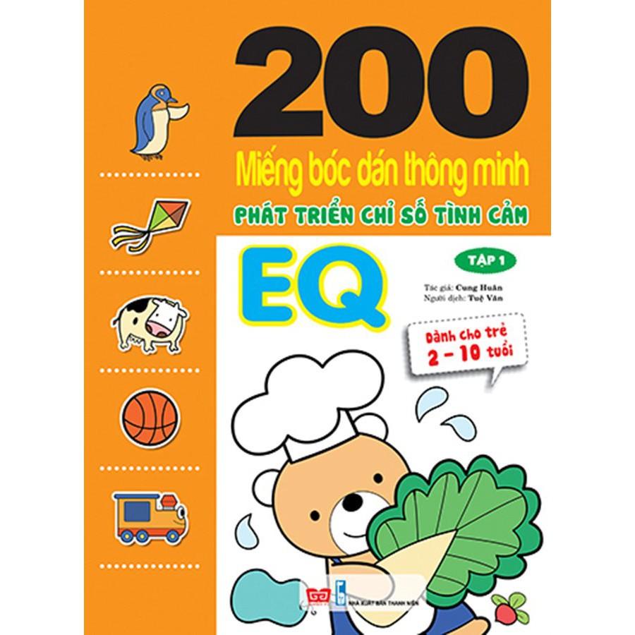200 miếng bóc dán TM PT chỉ số Tình cảm EQ T1 (Dành cho trẻ 2-10 tuổi)