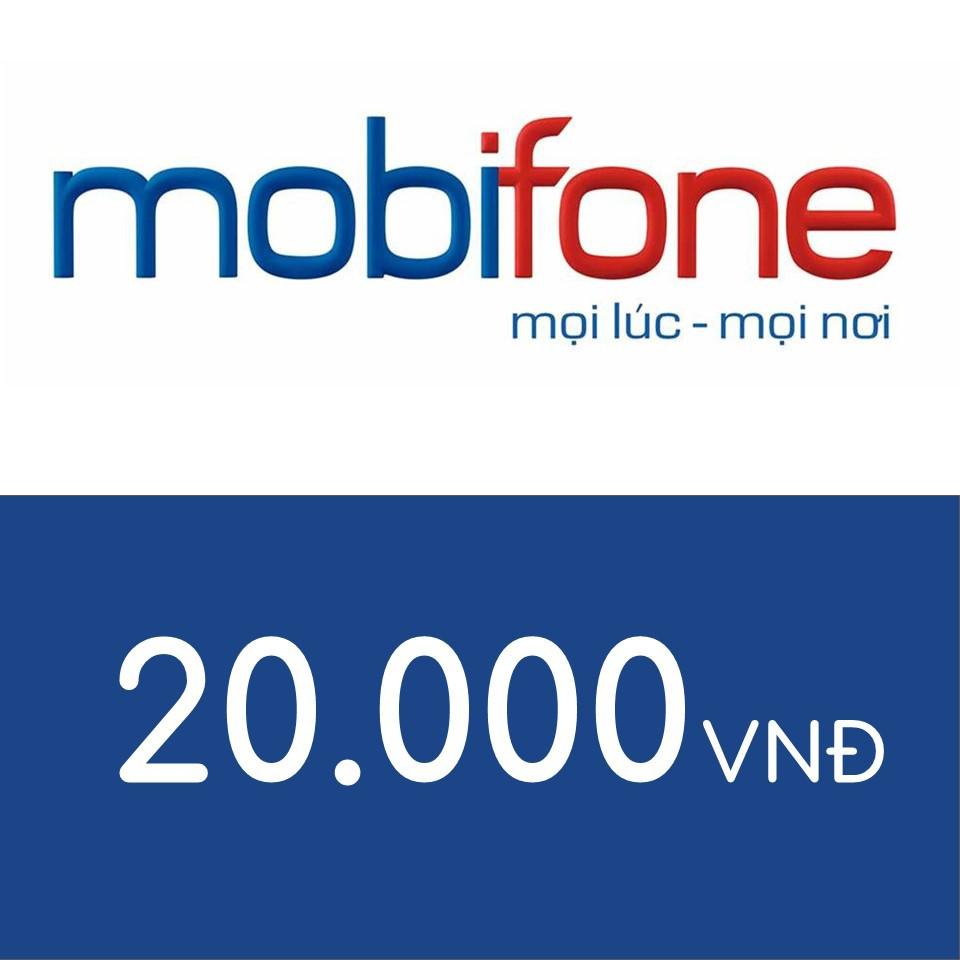 Nạp điện thoại Mobifone 20K