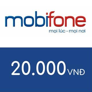 Hình ảnh Nạp điện thoại Mobifone 20K-0