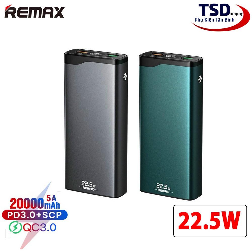 [Mã 267ELSALE hoàn 7% đơn 300K] Pin Dự Phòng Remax RPP-129 20000mAh Chính Hãng