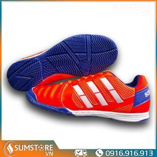 Giày Đá Banh Đế Bằng Winbro Sala Đỏ Cam - Giày Futsal 2021 (Đã Khâu Full Đế) thumbnail