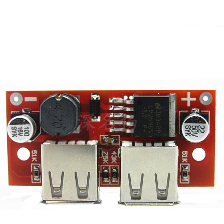 Mạch hạ áp 5V LM2596 - 2 cổng USB