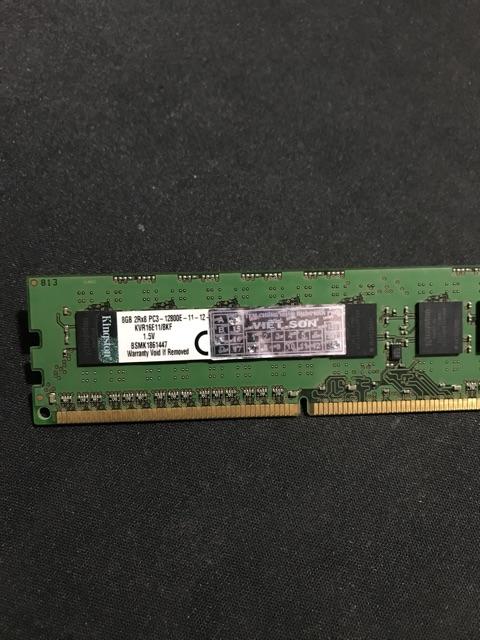 Kingston ECC 8G-1600 dòng ram support chuyên máy bộ, máy server