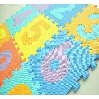 Combo 10 miếng thảm số giúp trang trí nhà cửa, trải cho bé nằm chơi cho bé làm quen với con số 4104