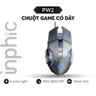 Chuột Máy Tính Có Dây USB Inphic PW2 – Chính Hãng Với Đèn Nền RGB Tiện Dụng, 4800 DPI cho game thủ chuyên nghiệp