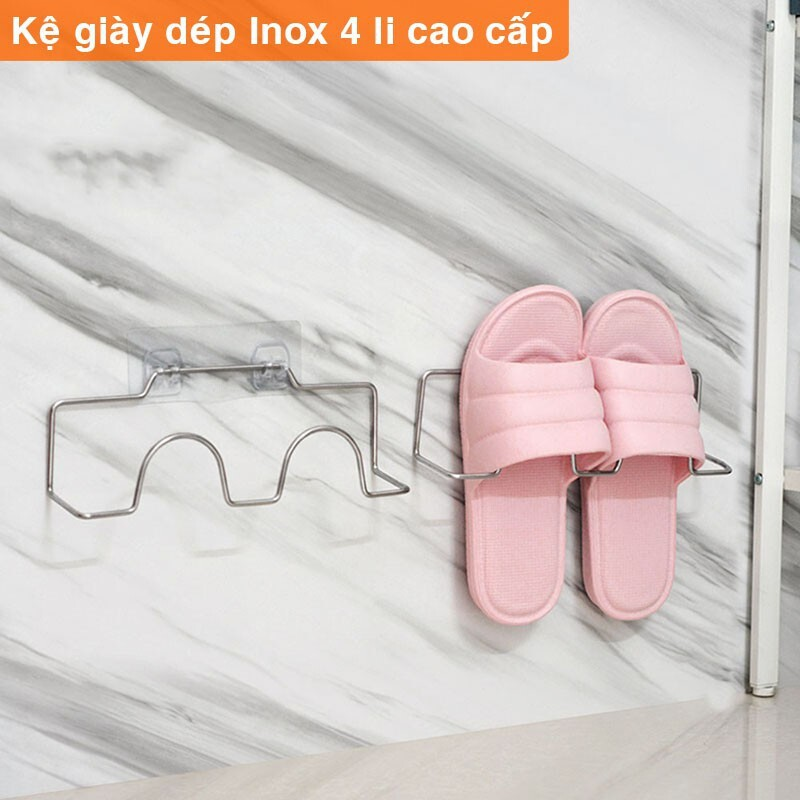 Kệ để giày dép, giá kệ để giày dép INOX treo dán tường cao cấp