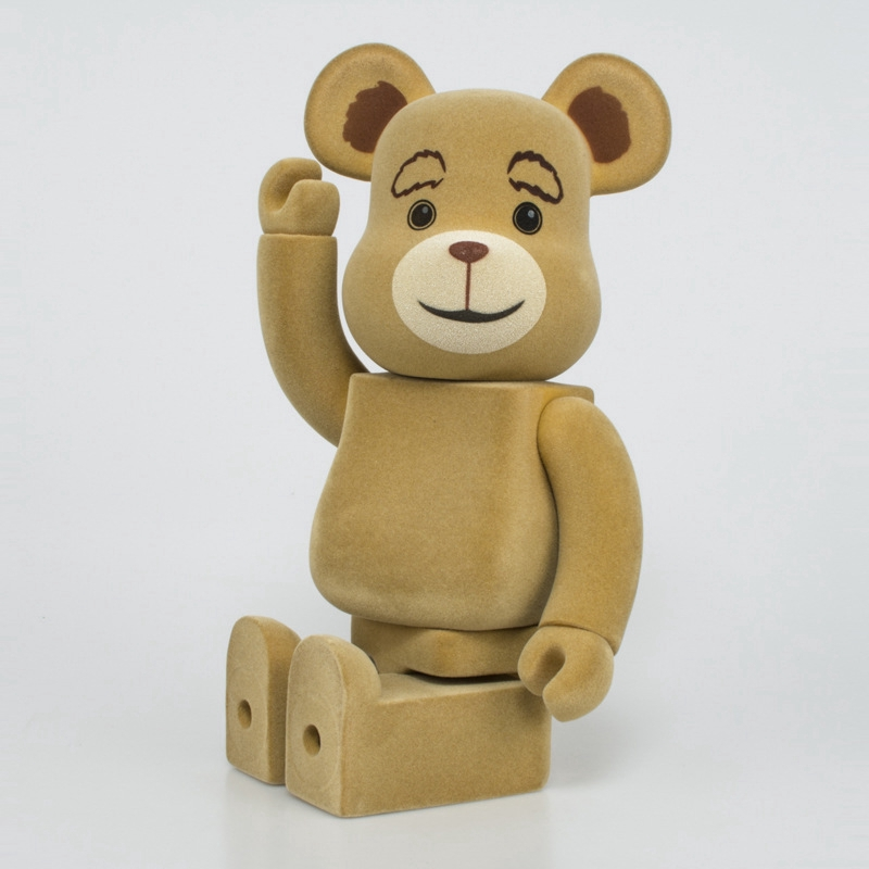 Fashion Flocked Teddy Hiroshi Fujiwara Green Fragment Bearbrick Action Figure