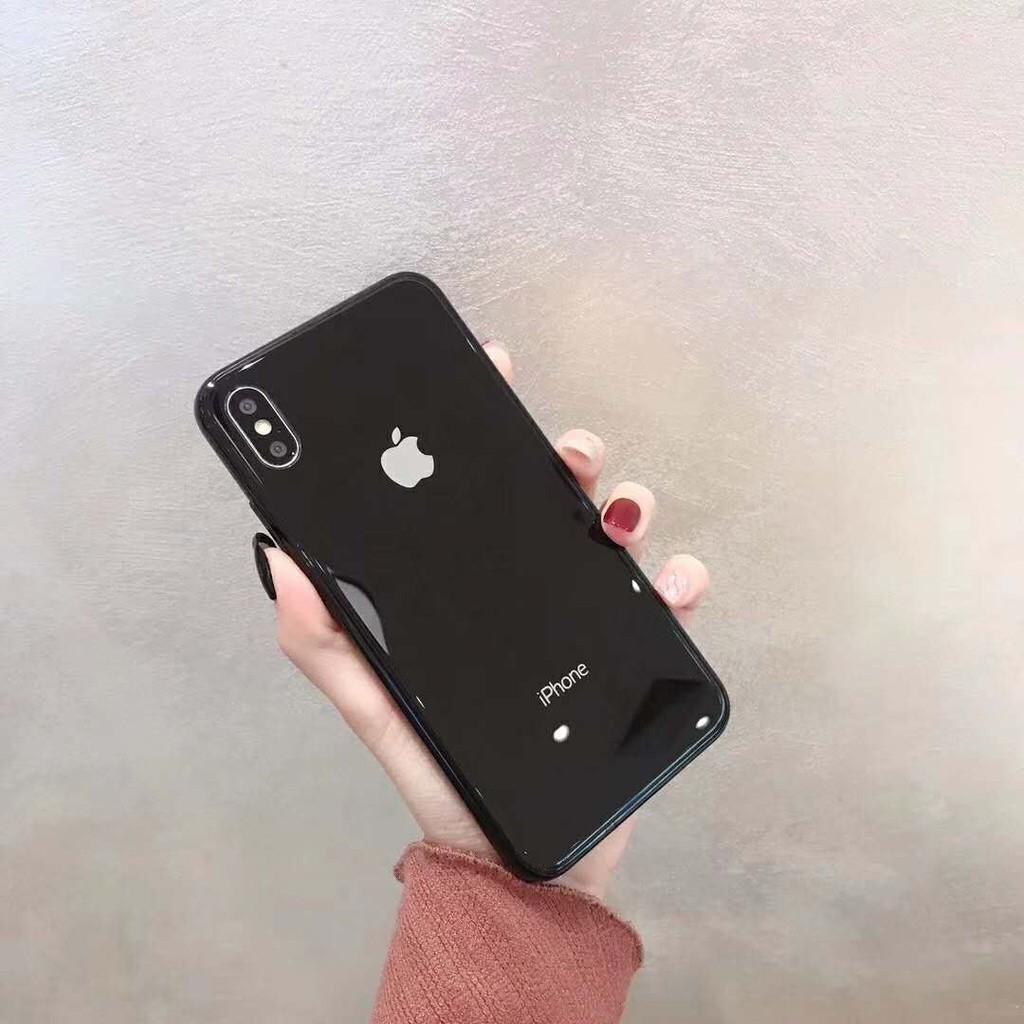 Apple Case มี 6 สี macaronเคสโทรศัพท์แก้ว iPhone 11 pro max i11 6 6 วินาที 7 8 บวก X XR XS Max phone Case