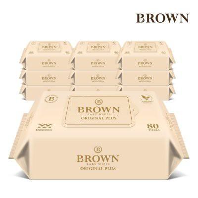 KHĂN GIẤY ƯỚT CAO CẤP BROWN HÀN QUỐC 80 MIẾNG