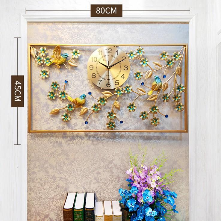 Đồng hồ treo tường hình con chim đậu càng mai Lian989 chính hãng. Làm quà tặng tân gia, trang trí nhà. BH 12 tháng