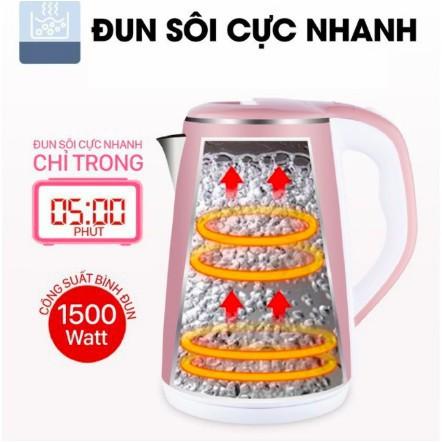 Ấm điện JIPLAI hàng Thái Lan 2 lớp chống nóng - đun nước siêu tốc