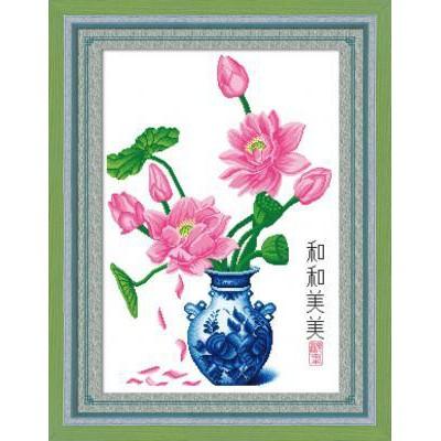 Tranh thêu chữ thập in sẵn Bình Hoa Sen H325 - 3188063 , 671498941 , 322_671498941 , 103000 , Tranh-theu-chu-thap-in-san-Binh-Hoa-Sen-H325-322_671498941 , shopee.vn , Tranh thêu chữ thập in sẵn Bình Hoa Sen H325