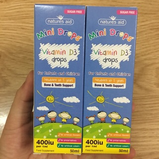 Vitamin D3 drop 400iu của Nature Aid mẫu mới