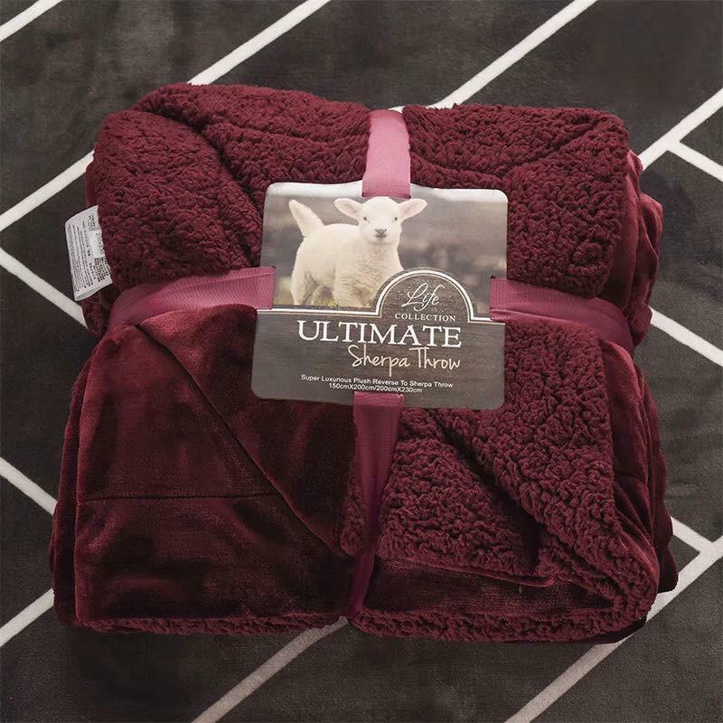 Chăn lông cừu Ultimate Colurful hàng nhập