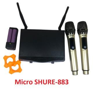 Micro không dây SHURE-883 chống ù chất lượng cao