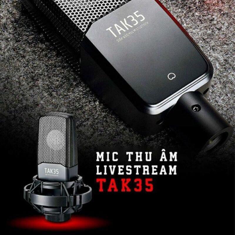 [Bảo hành 12 tháng] Micro thu âm TAK35 Takstar thu âm chuyên nghiệp, hát karaoke tại nhà, livestream fb, bán hàng online