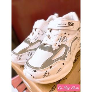 Giày thể thao bé gái 9012SS trắng-bạc 2020