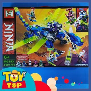 Non - lego ninjago Trận chiến ninja rồng mạng xanh của Jay chiến đấu MG153 có 5 minifigures ninjago bên trong thumbnail