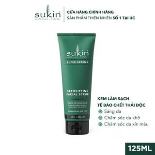 Kem Làm Sạch Tế Bào Chết Sáng Da Sukin Super Greens Detoxifying Facial Scrub 125ml-0