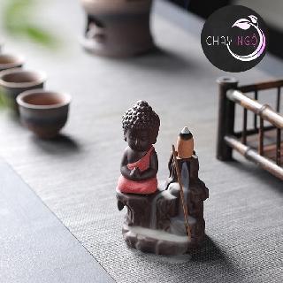 Thác Khói Trầm Hương Gốm Cao Cấp - Phật Tọa Bên Suối 6
