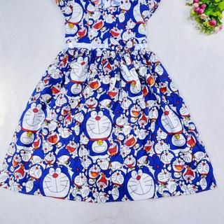 Bộ Quần Áo In Hình Doraemon / Hello Kitty Cho Bé Gái 7-8 – 9-10 Tuổi