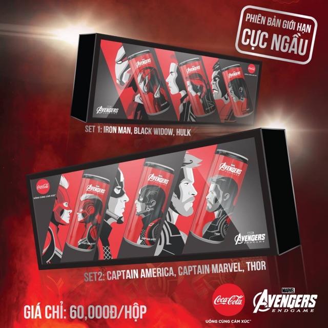 Set Coca Cola Avengers Endgame của Marvel