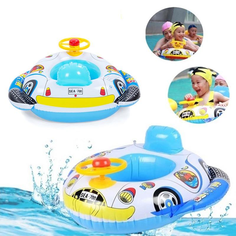 Phao bơi cho bé hình ô tô có bánh lái kèm kòi