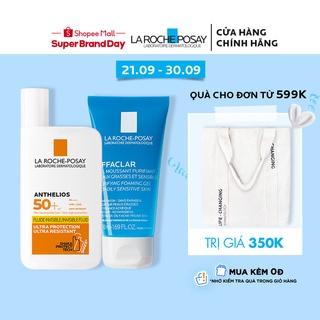 Bộ chống nắng không nhờn La Roche-Posay Anthelios XL Fluid Ultra Light 50ml Gel rửa mặt cho da mụn 50ml
