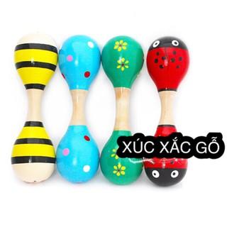 [Đồ chơi gỗ, đồ chơi giáo dục] Xúc xắc gỗ 2 đầu(loại to)