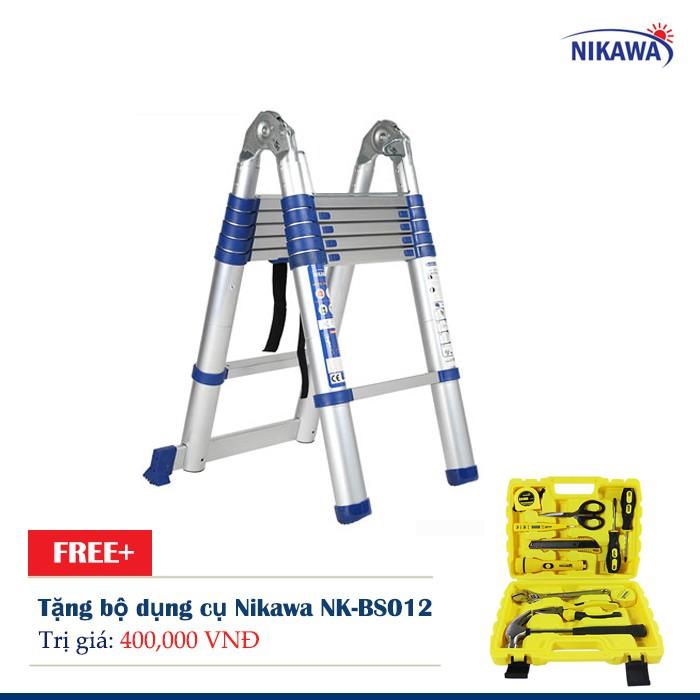 Thang Nhôm rút đơn Nikawa NK-56AI Tặng bộ dụng cụ Nikawa NK-BS012