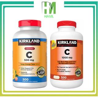 VITAMIN C KIRKLAND Signature 1000 mg 500 Viên – viên uống tăng sức đề kháng cho cơ thể