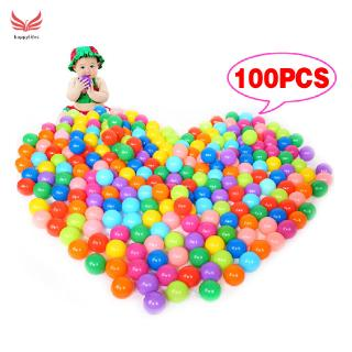 ☪HL♬ 100Pcs Colorful Ball Ocean Balls Soft Plastic Ocean Ball Baby Kid Swim Pit Toy