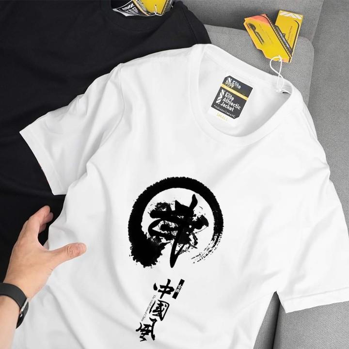 Áo thun Nam , nữ đen-trắng - áo phông tay ngắn cổ tròn