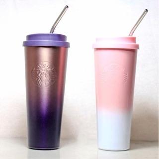 [Tặng túi bảo vệ+ống hút] Ly giữ nhiệt Starbucks Ombre inox 304