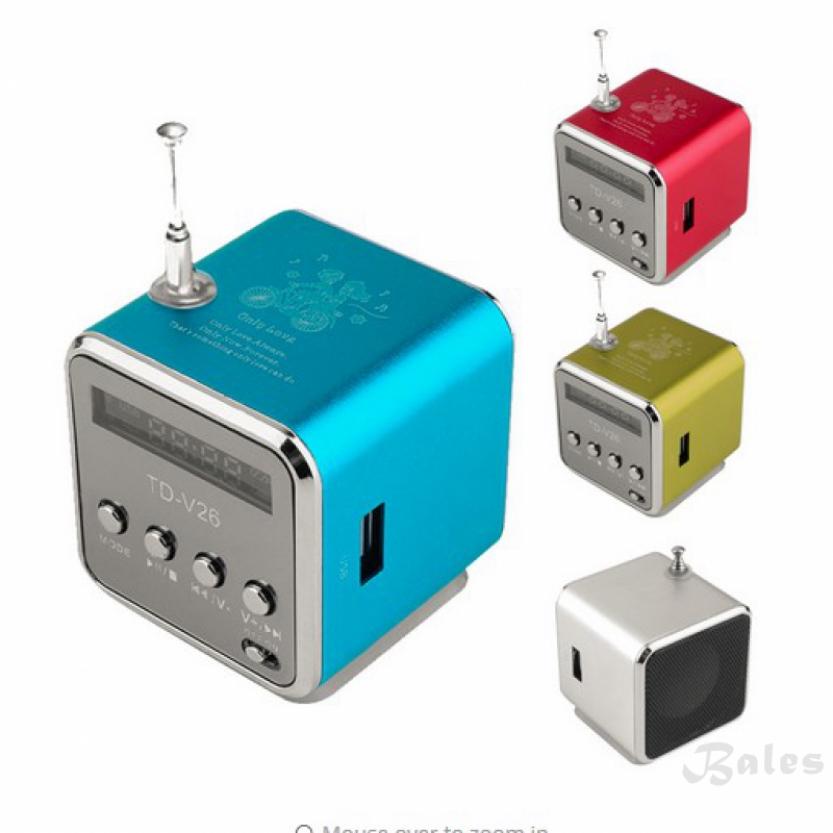 Bales Portable Micro Usb Mini Stereo Super Bass Music Speaker Mp34 Fm Radio